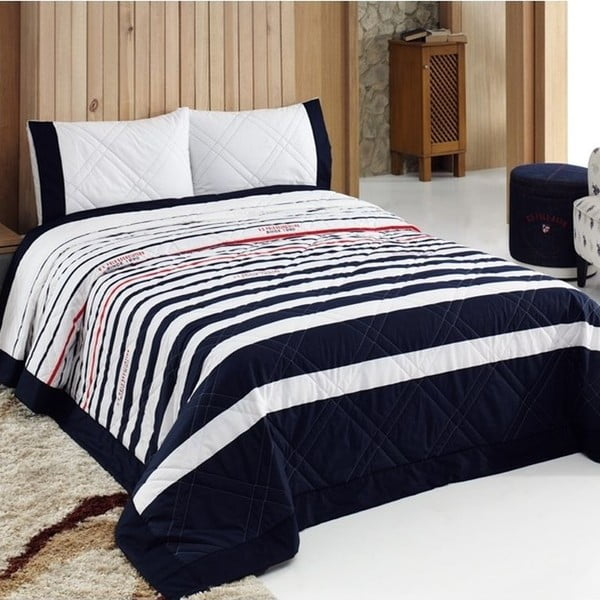 Sada přehozu přes postel a 2 polštářů U.S. Polo Assn. Oregon, 240x250 cm