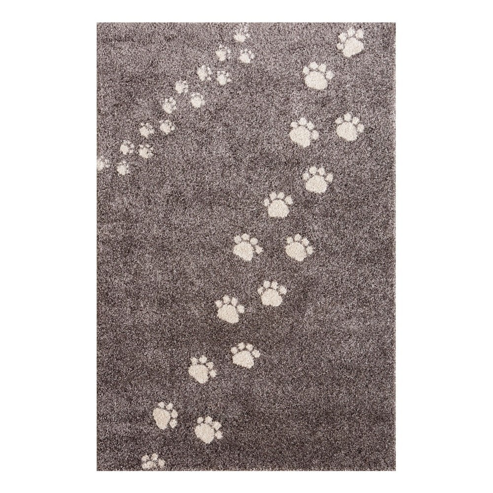 Šedý koberec Art For Kids Footprints, 100 x 150 cm