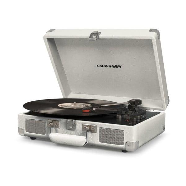 Biały gramofon Crosley Cruiser Deluxe
