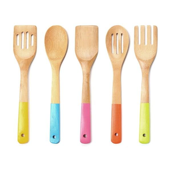 Set 5 ustensile bucătărie Premier Housewares Bamboo