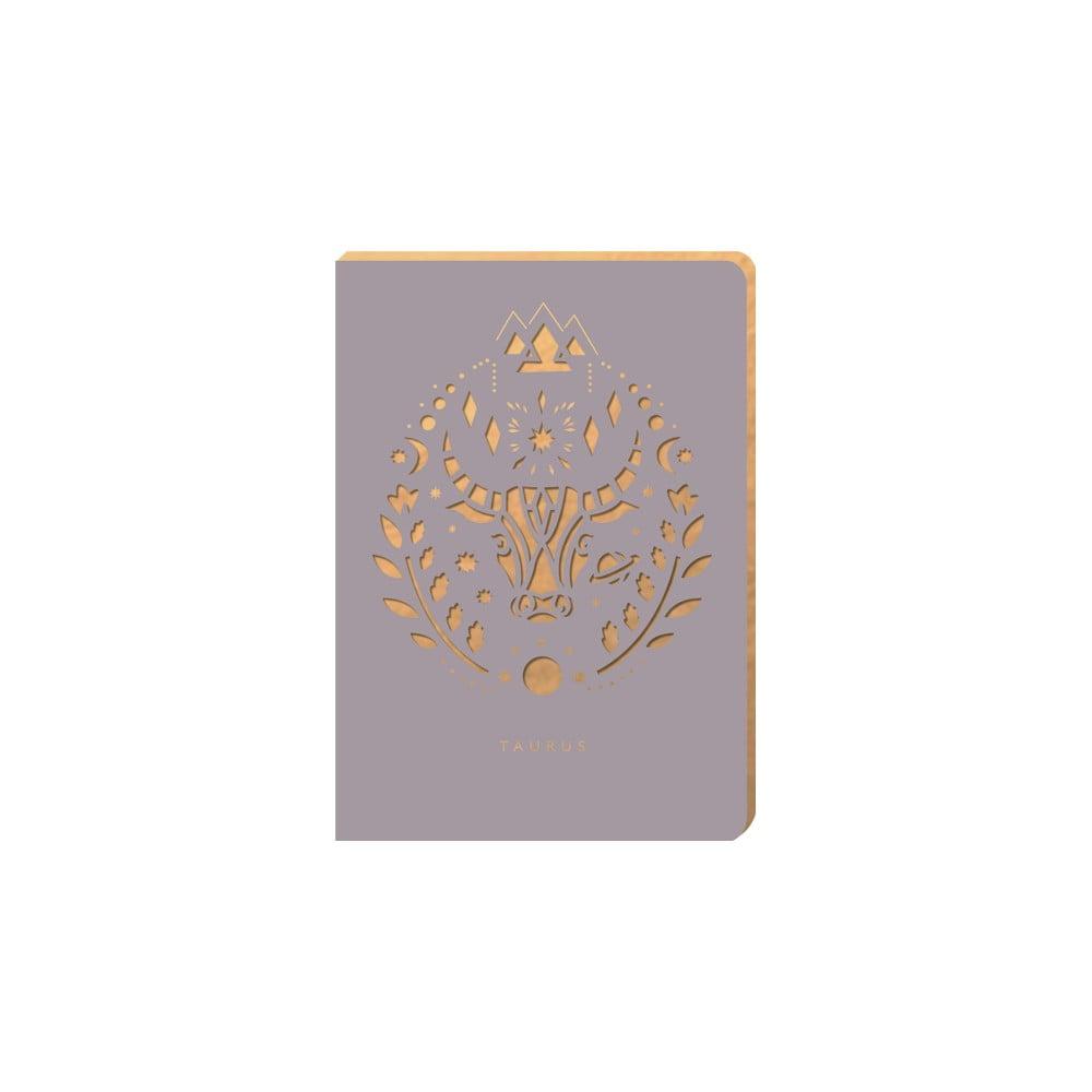 Linkovaný zápisník Portico Designs Býk, 124 stránek
