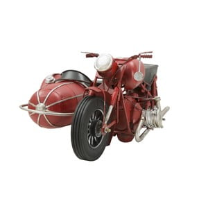 Dekorativní kovová motorka Mauro Ferretti Sidecar