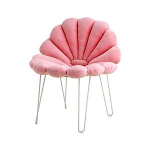 Pernă din catifea pentru scaun de grădină Garden Glory Shell, roz