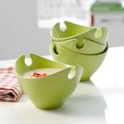 Sada 4 porcelánových misek Steel Function Milano Green
