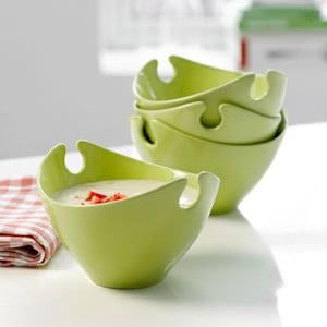 Set čtyř porcelánových misek Steel Function Milano Green