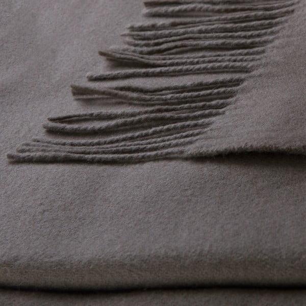 Vlněný pléd Lovely 130x180 cm, moka