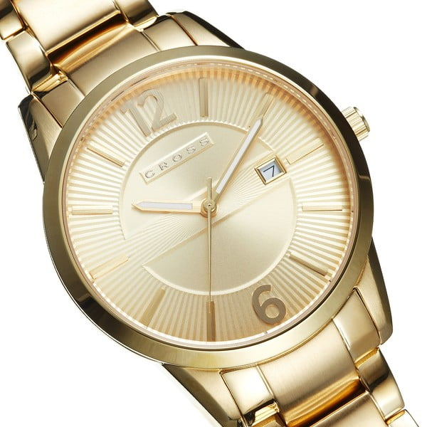 Pánské hodinky Cross Gotham Champagne/Gold, 41 mm