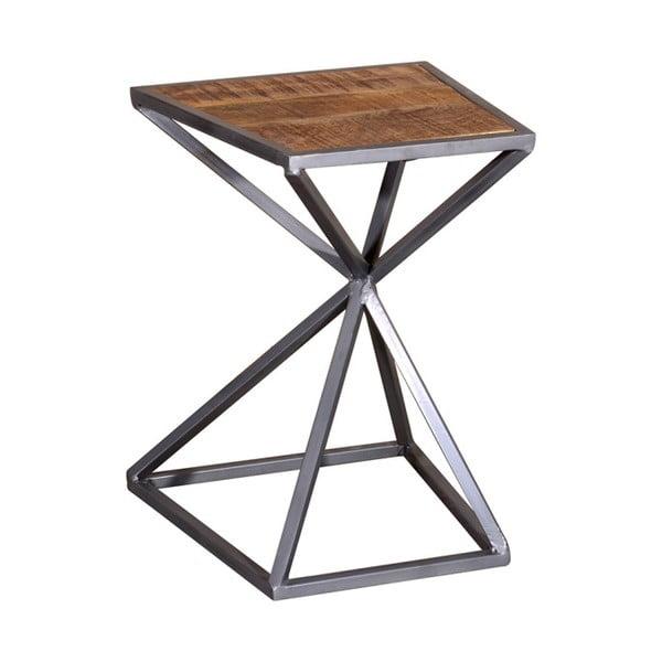 Odkládací stolek ze dřeva akácie a kovu VIDA Living Tiznit