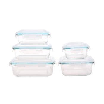 Set 5 recipiente din sticlă pentru alimente Sabichi imagine
