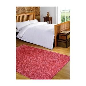Světle červený koberec Webtappeti Shaggy, 60x100cm