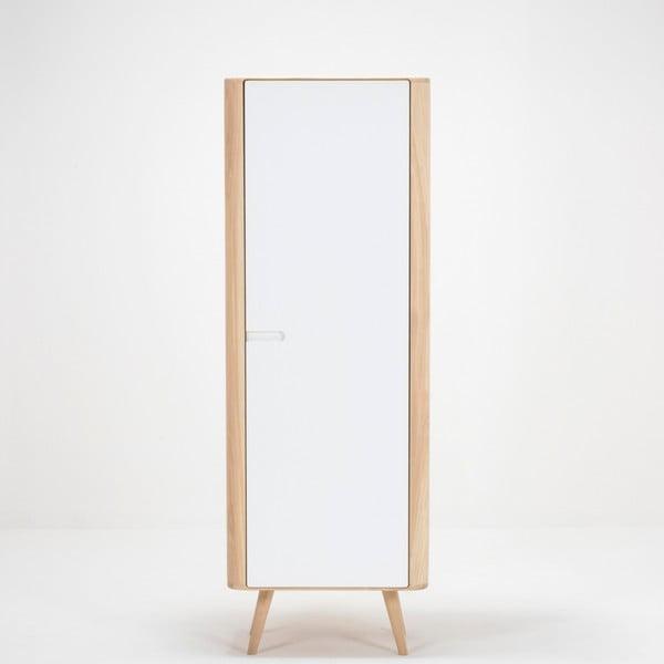 Šatní skříň s konstrukcí z masivního dubového dřeva Gazzda Ena , šířka60cm
