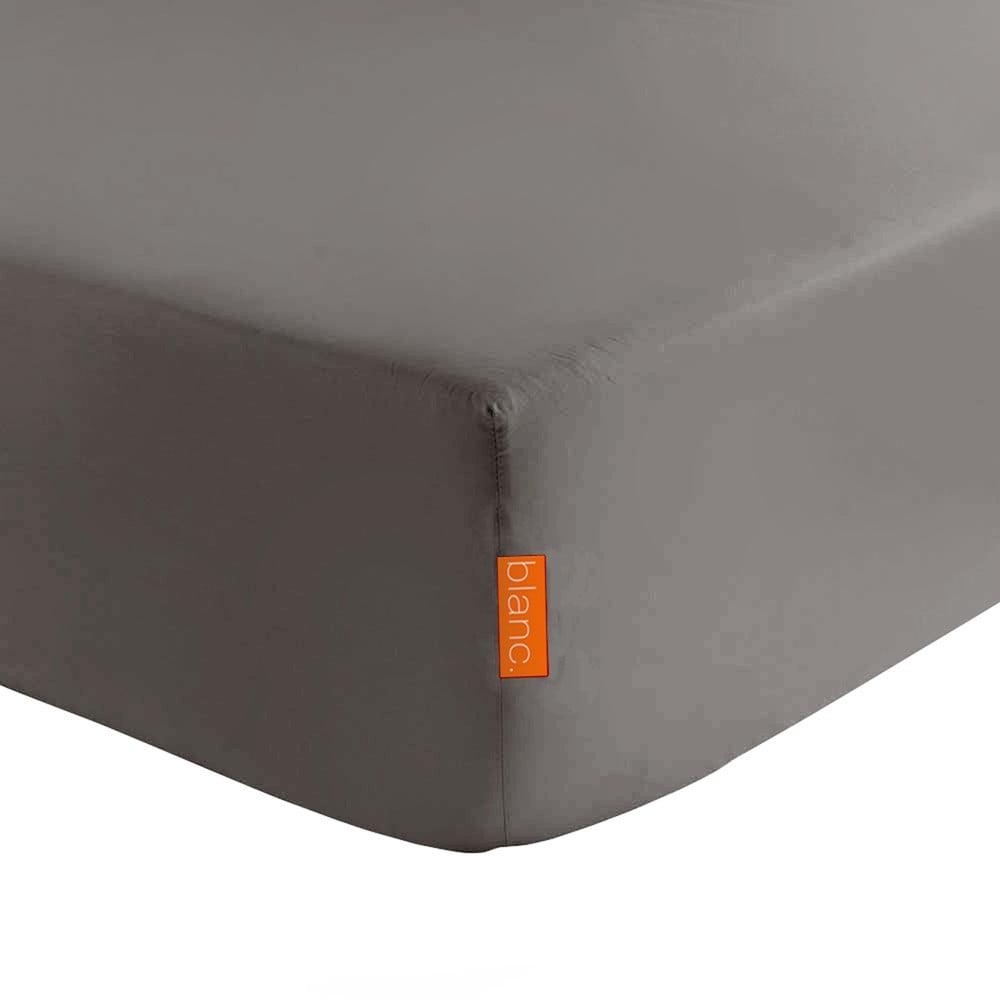 Tmavě šedé elastické prostěradlo HF Living Basic, 140 x 200 cm