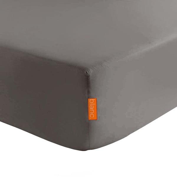 Tmavě šedé elastické prostěradlo HF Living Basic, 180x200cm