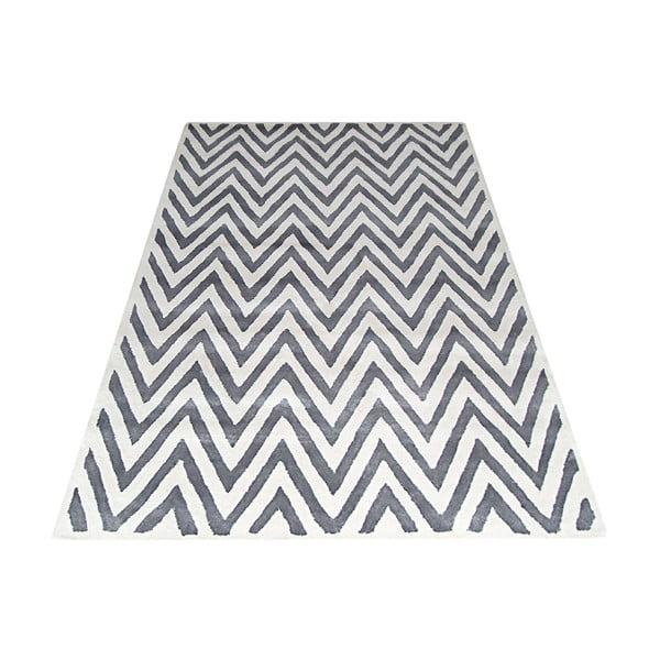 Vlněný koberec Ziggy Ivory/Silver, 122x183 cm
