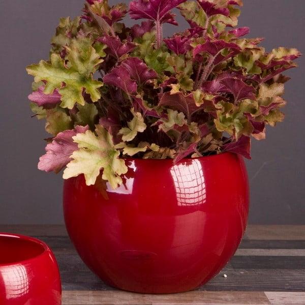 Květináč Arctic červený, 20 cm