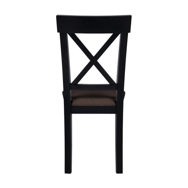 Černá židle s hnědým sedákem BSL Concept Hinn