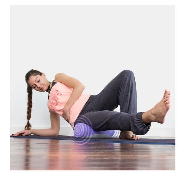 Fialový masážní váleček InnovaGoods Vibro Yoga Roll BTK