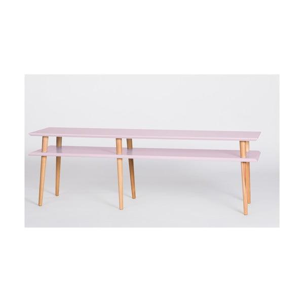 Růžový konferenční stolek Ragaba Mugo,délka159cm