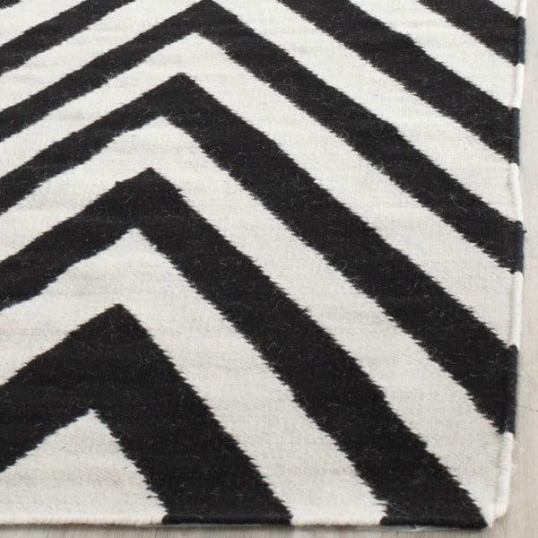 Vlněný koberec Safavieh Serena, 121x182 cm, černý