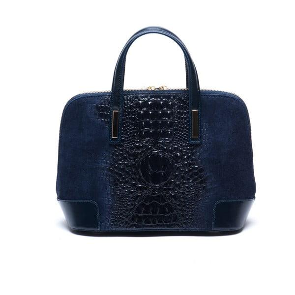 Tmavě modrá kožená kabelka Mangotti Jasminum