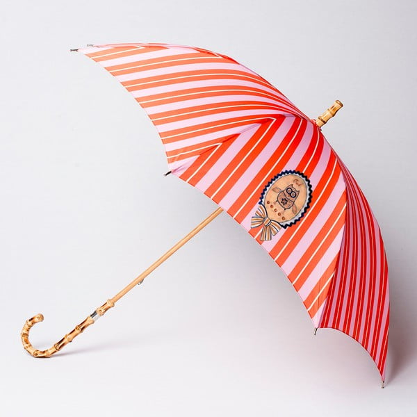 Deštník Alvarez Stripe Orange Pink Illustration