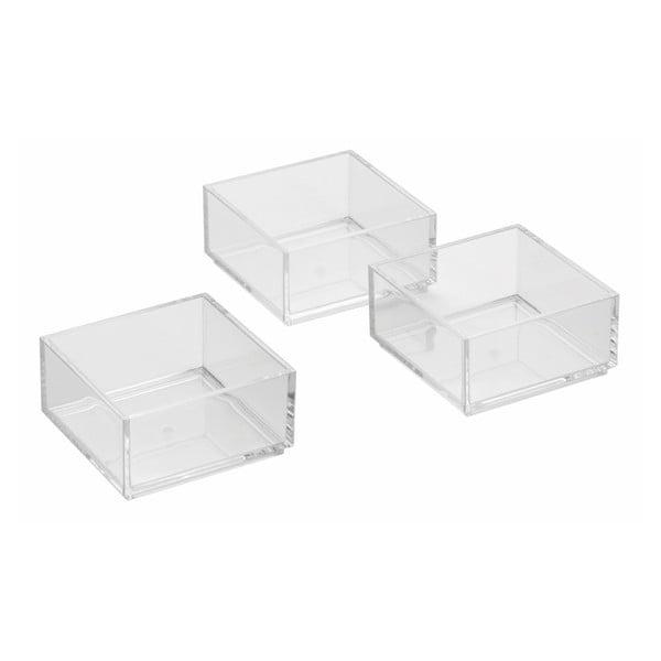 Tři úložné boxy Clarity