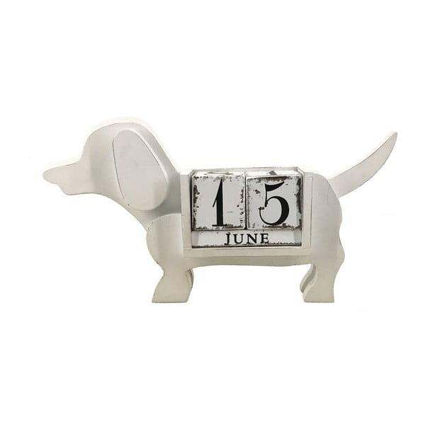 Bílý kalendář ve tvaru psa Moycor Gales