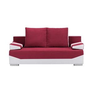 Červeno-šedá třímístná rozkládací pohovka s úložným prostorem Melart Marcel