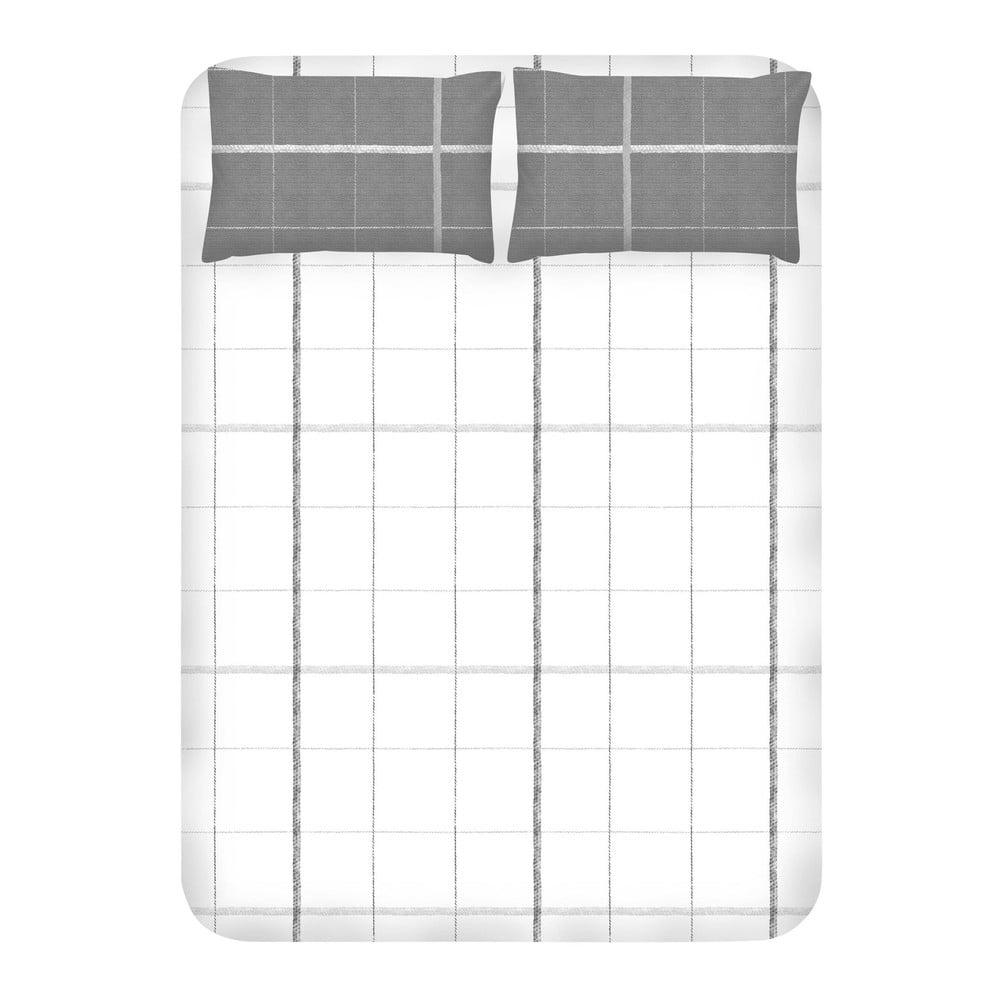 Set prostěradla a 2 povlaků na polštáře EnLora Home Maya White, 240 x 260 cm