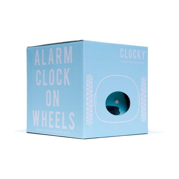 Clocky, budík na kolečkách, aqua