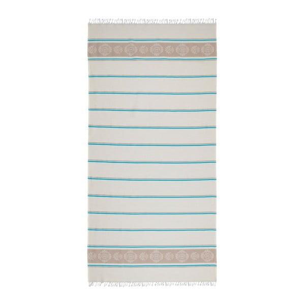 Modrobéžová hammam osuška Deco Bianca Loincloth Fife Blue, 80x170cm