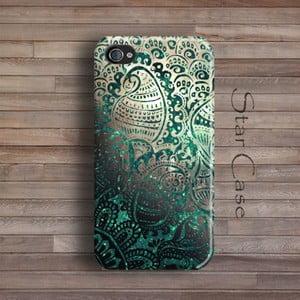 Obal na iPhone 4/4S Green Glitter