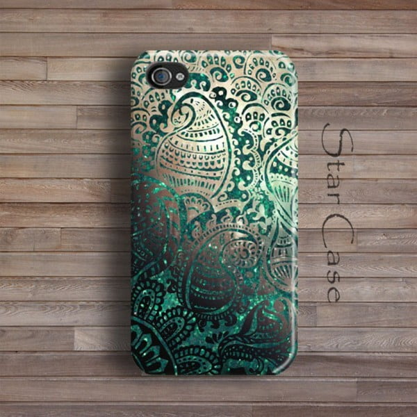 Obal na iPhone 6 Green Glitter