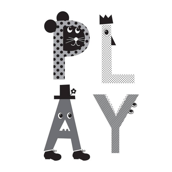 Plakát Karin Åkesson Design Play Grey, 30x40 cm