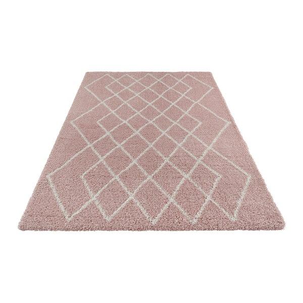 Růžovo-krémový koberec Mint Rugs Allure, 80 x 150 cm