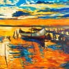 Obraz Moře a slunce, 60x60 cm