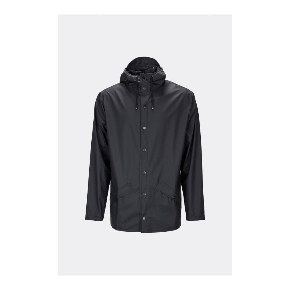 Černá unisex bunda s vysokou voděodolností Rains Jacket, velikost XS/S