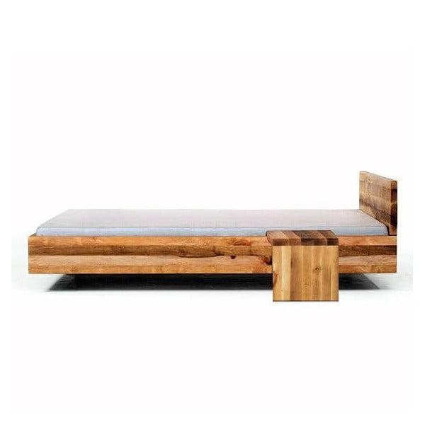 Vznášející se postel Pool bez čela, olše napuštěná lněným olejem, 180x200 cm