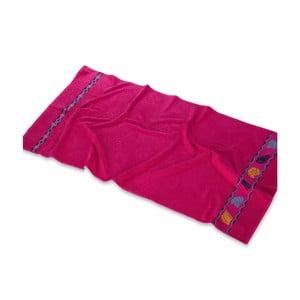 Tmavě růžová osuška Ipekce, 150x75cm