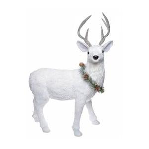 Bílá dekorace Ewax Ciervo, výška 60cm