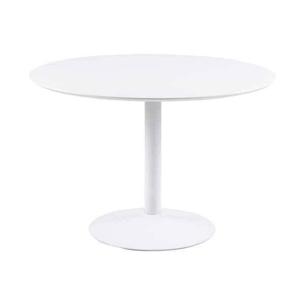 Masă rotundă Actona Ibiza, ⌀110cm, alb