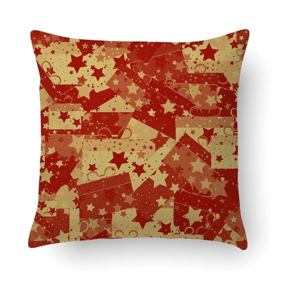 Červený vankúš Crido Consulting Christmas Wrapers, 40×40 cm