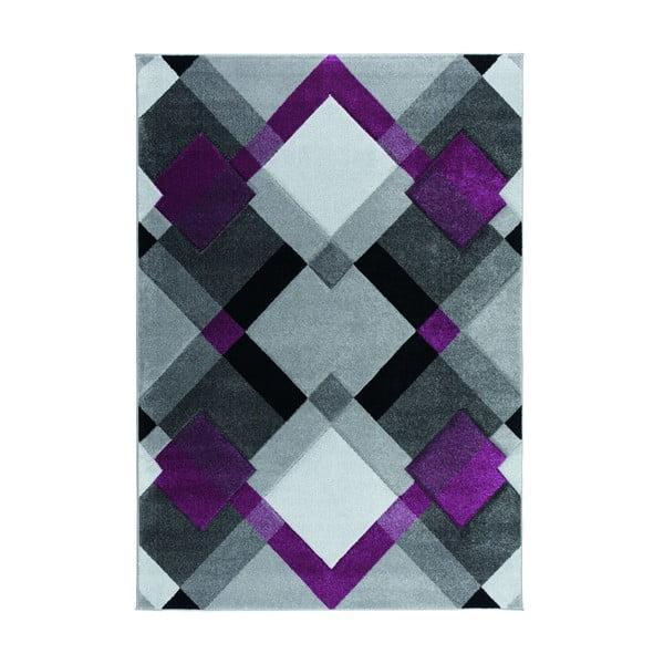 Šedo-fialový koberec Flair Rugs Nimbus Purple, 120 x 170 cm