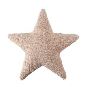 Pudrově růžový bavlněný ručně vyráběný polštář Lorena Canals Star, 54x54cm