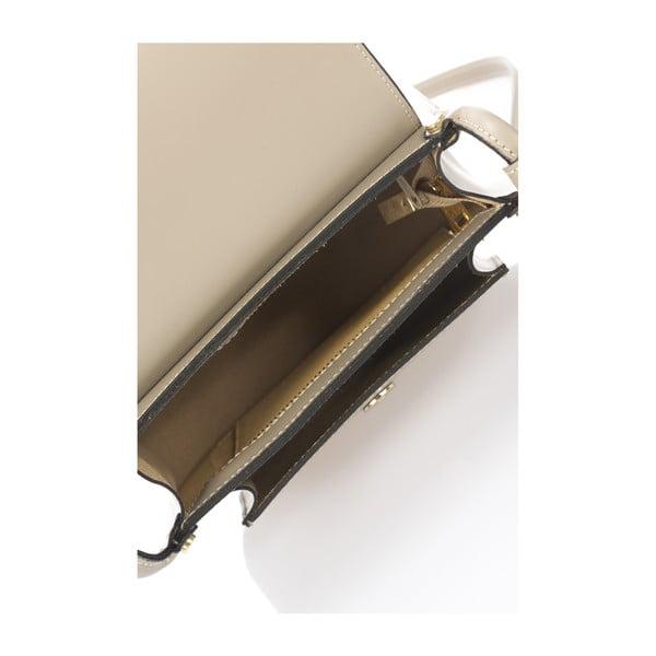 Kožená kabelka Crossido, béžová