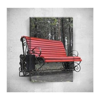 Tablou de perete 3D Mosticx Red Bench, 40 x 60 cm de la Mosticx