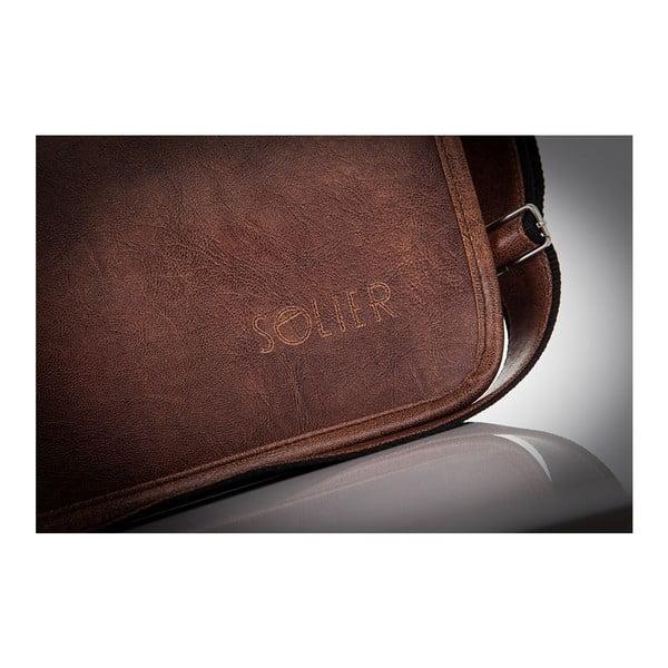 Pánská taška Solier S13, světle hnědá