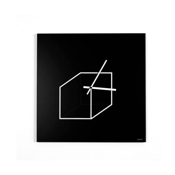 Nástěnné hodiny dESIGNoBJECT.it Cube,50x50cm
