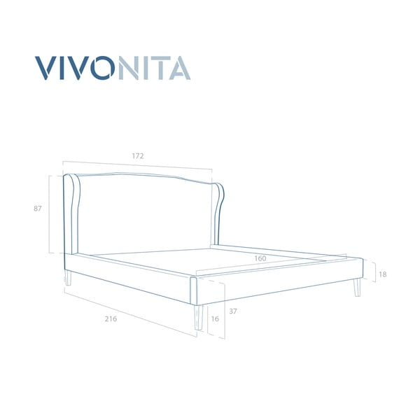 Postel v přírodní barvě Vivonita Windsor Linen, 200x160cm
