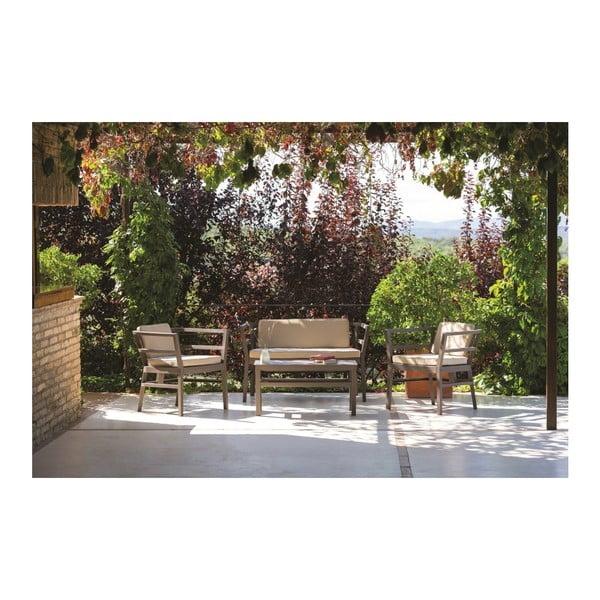 Čokoládově hnědé zahradní sofa Resol Click-Clack